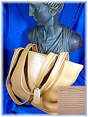 Bag Coach British Tan Leather Tote