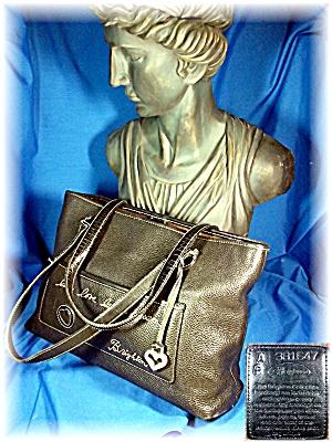Bag Brighton Black Pebble Leather Heart Tag (Image1)
