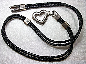 Brighton Black Braided Leather Belt