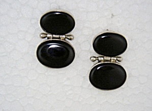 Sterling Silver Black Onyx Post Earrings Thailand