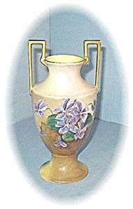 9 1/2 Inch Handpainted Violets Vase (Image1)
