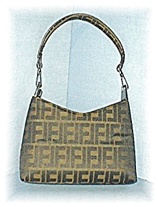 Fab Micro Fiber Twin F's Black/Tan Bag (Image1)