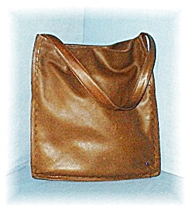 COACH  Leather Tote Bag Large Light Brown (Image1)