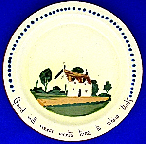 DEVON MOTTO WARE PLATE MADE IN ENGLAND... (Image1)