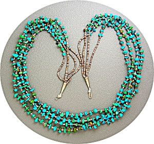 Native American Santa Domingo Turquoise Heishi Beads (Image1)