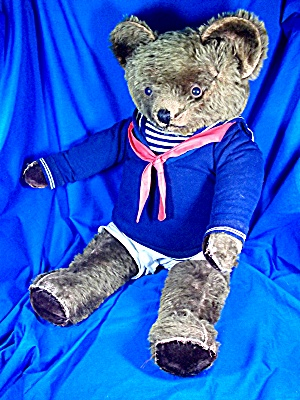 Vintage circa 1940s Mohair Teddy Bear july jointed (Image1)