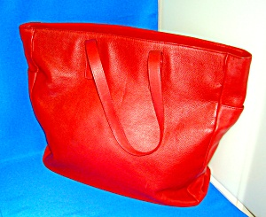 Bag Red Leather Express Design Studio Tote  (Image1)