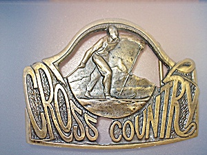 Brass Cross Country Belt Buckle (Image1)
