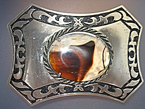 Belt Buckle With Cabachon Stone