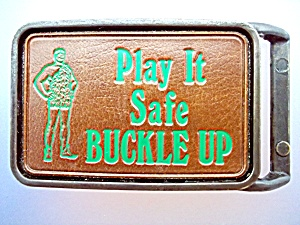 Play it Safe BUCKLE UP belt buckle (Image1)