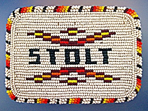 Beaded Belt Buckle - Stolt