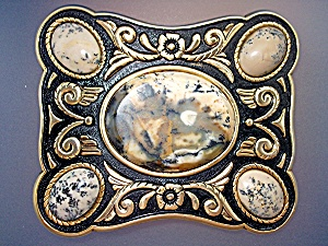 Belt Buckle Cabachon Stones
