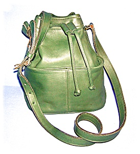 Coach Leather Bucket Bag Green
