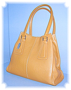 Tan Leather Tignanello Tote Bag (Image1)