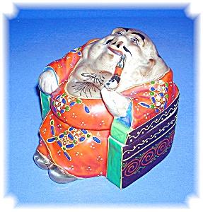 Porcelain Japanese Man Jar (Image1)