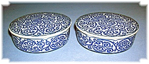 2 Small Blue Jars Made in Japan (Image1)