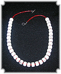 28 Inch White Turquoise And Coral Necklace (Image1)
