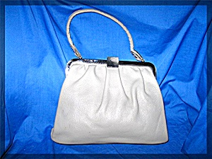 Vintage Grey Leather Handbag