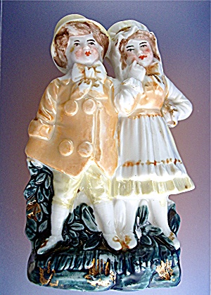 Victorian China Fairing Boy and Girl (Image1)