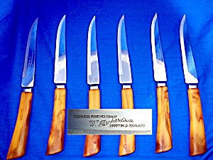Bakelite Steak Knife Set  W. Richardson Sheffield Engla (Image1)