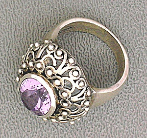 Amethyst Sterling Silver Ring Indonesia (Image1)
