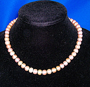 Pink Freshwater Pearl Necklace 8.6mm