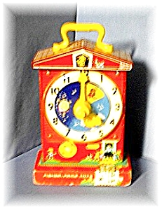 Vintage 1962-68 Fisher Price Tell Time Clock (Image1)