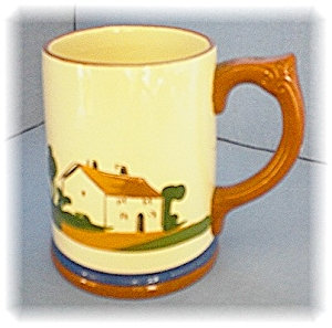 English Devon Ware Pottery Motto Mug (Image1)