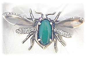 NORDIC Jewelled Bug Brooch Sterling Silver (Image1)