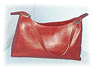Burgundy ANNE TAYLOR Leather Bag (Image1)