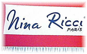 Nina Ricci 100% Silk Scarf Made In Paris