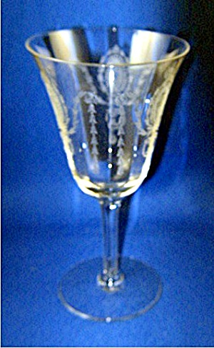 Tiffin Goblet, Charmain pattern etched crystal (Image1)