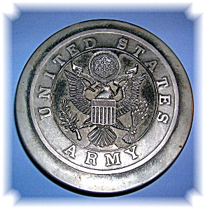 US Army Metalware Trinket Box. (Image1)