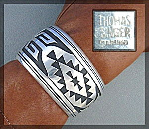 Tommy Singer Sterling Silver Navajo Cuff Usa