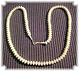 Native American Navajo Pearls Sterling Silver Necklace (Image1)