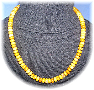 Yellow Jasper 20 Inch Necklace