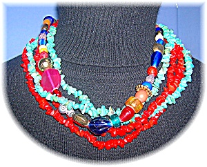 Lonnie Lovness Turquoise Coral Lapis Glass