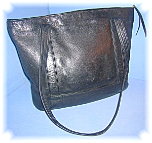 Black Leather Tote Bag Jean Olson Colorado