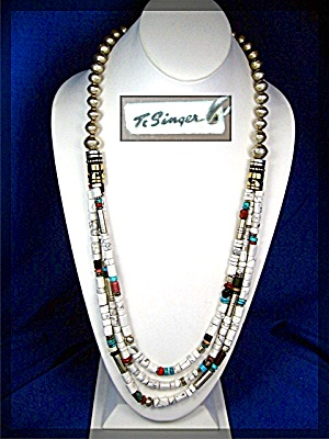Native American Tommy Singer White Buffalo Necklace