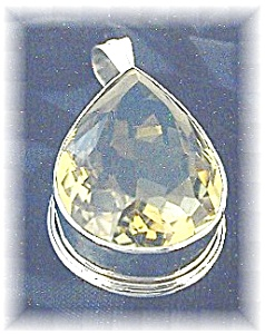 Lemon Citrine Tear Drop Shaped  Pendant (Image1)