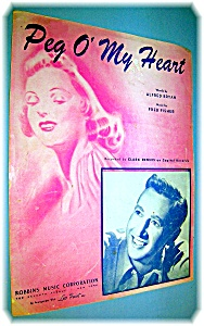 SHEET MUSIC PEG O' MY HEART..... (Image1)