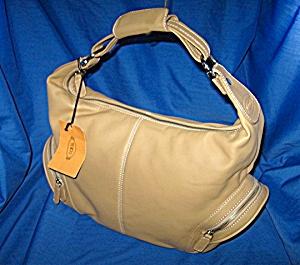 Tods Tan Leather  Charlotte  Piccola Handbag (Image1)