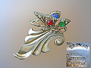 Sterling Silver SARMAN crystal Butterfly Brooch (Image1)