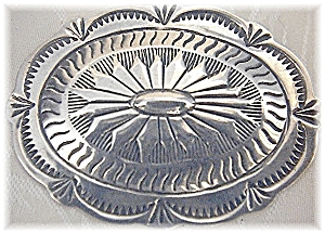 Sterling Silver American Indian Concho Brooch