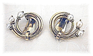 Cultured Pearl 1/20 12K Gold Fill Clip Earrings (Image1)