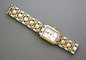 Silver and Gold NIVADA Ladies Quartz Wristwatch (Image1)