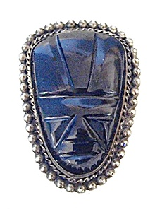 Beautiful Large Black Onyx & Silver Face Pend (Image1)