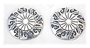 Taxco Mexico Sterling Silver Clip Earrings TP 2M (Image1)