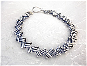 Sterling Silver Patterned  Bracelet. (Image1)