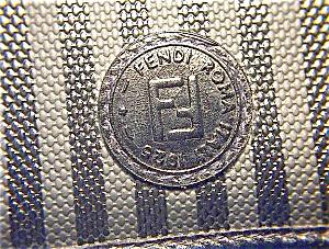 FENDI Black Tan Clutch Ceck Book Wallet (Image1)